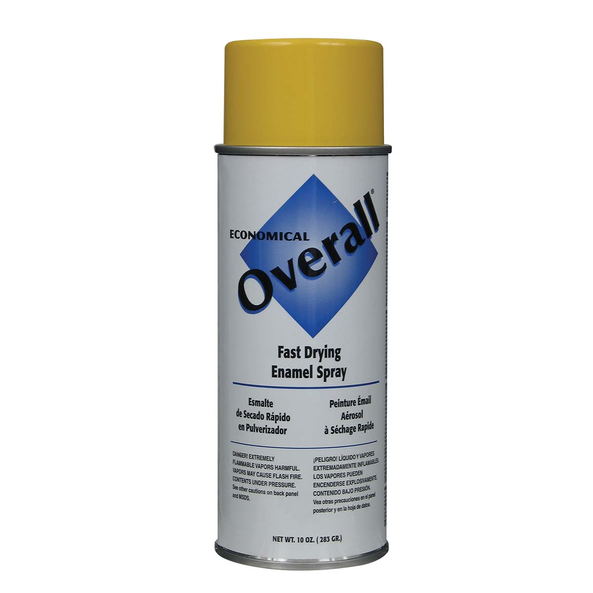 Rust-Oleum V2409830 Overall Economical Fast Drying Enamel Aerosols - Pack of 6 GLOSS YELLOW