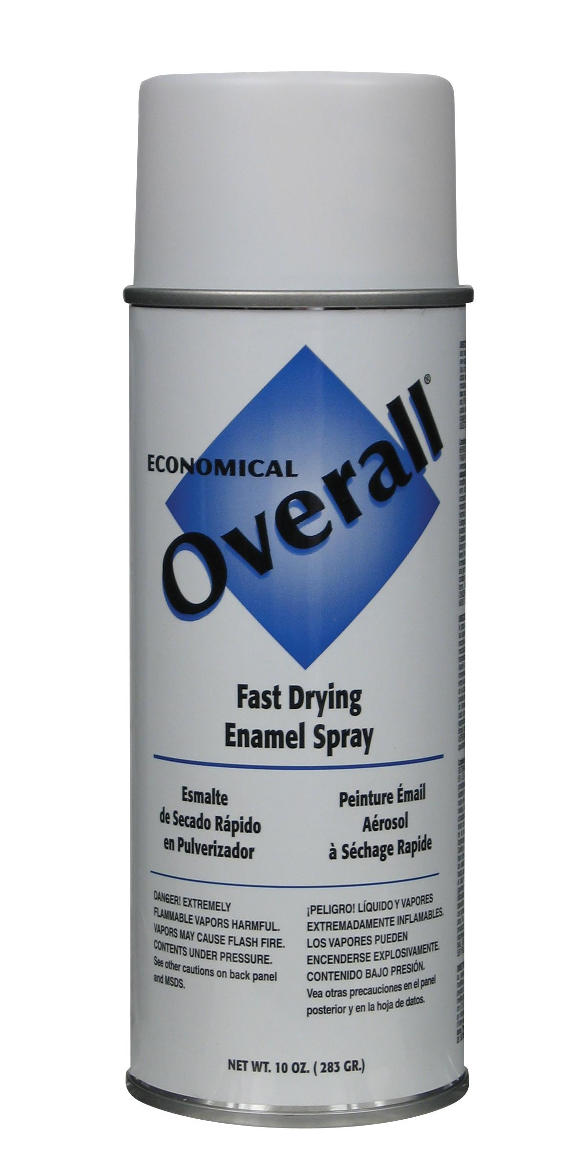Rust-Oleum V2405830 Overall Economical Fast Drying Enamel Aerosols - Pack of 6 FLAT WHITE