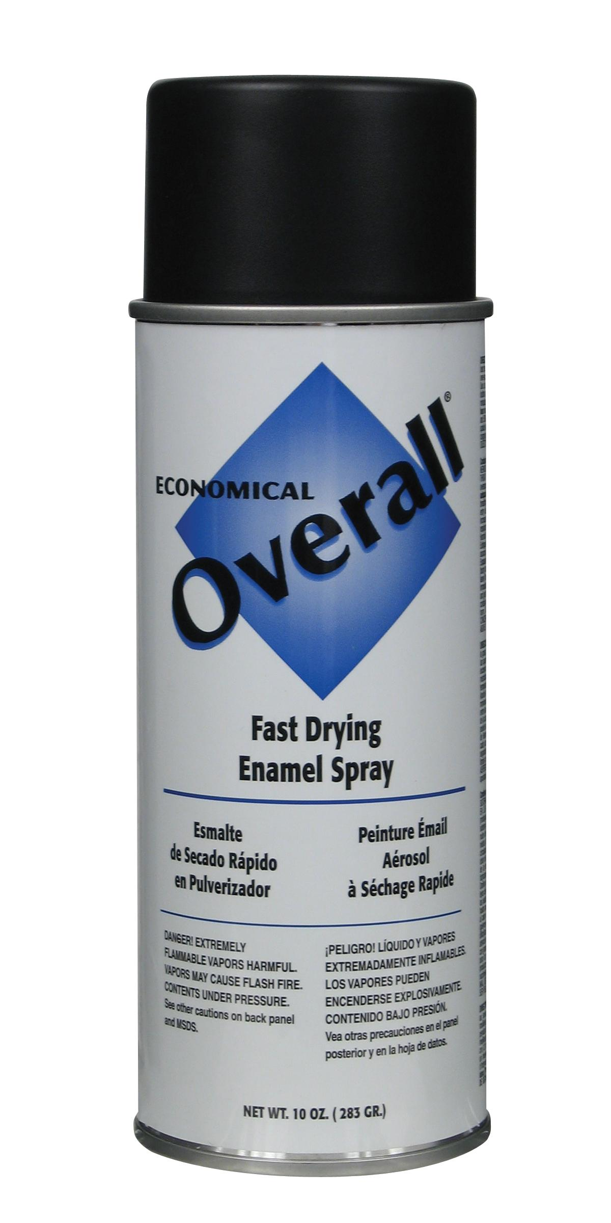 Rust-Oleum V2404830 Overall Economical Fast Drying Enamel Aerosols - Pack of 6 FLAT BLACK