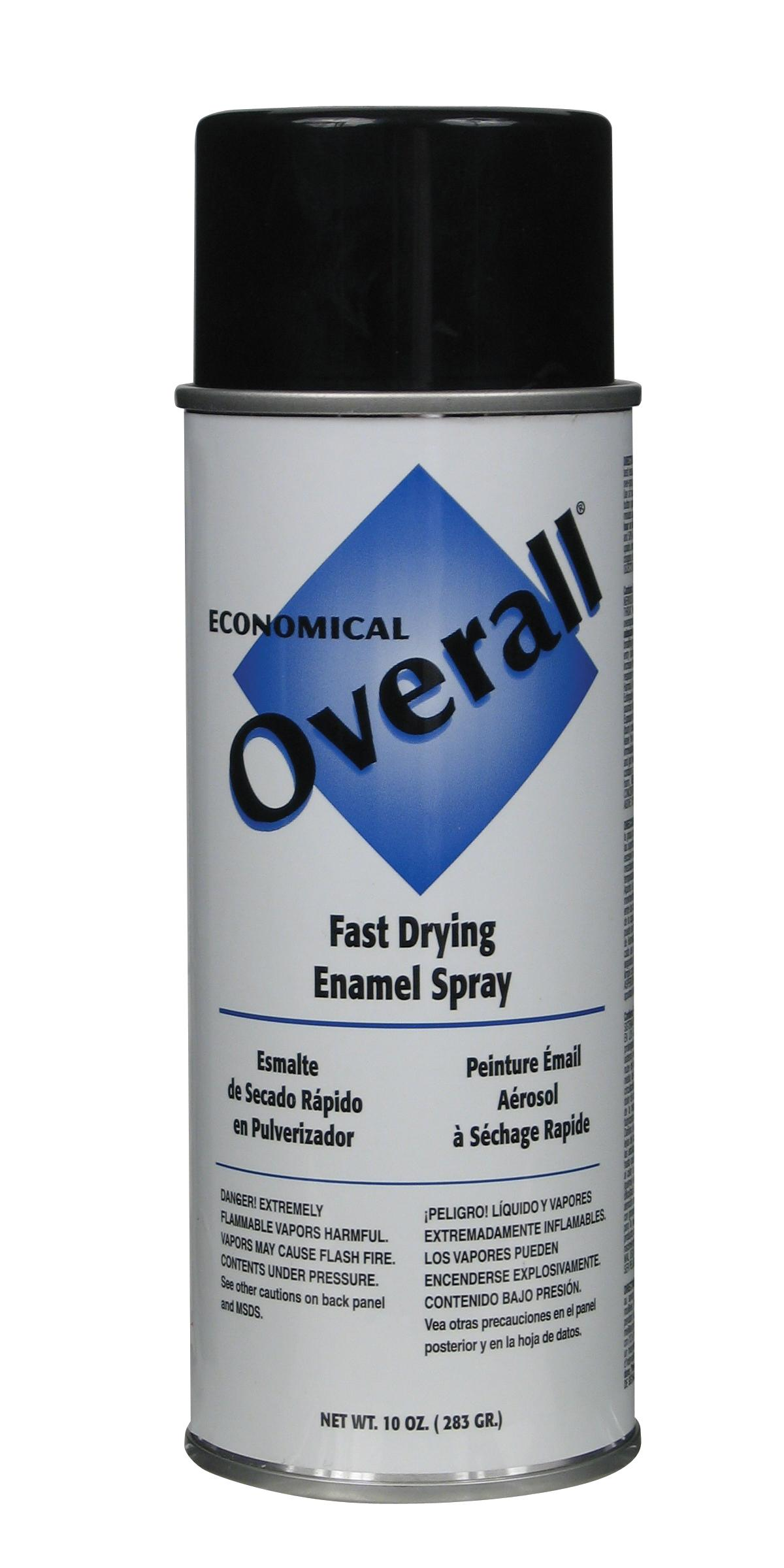 Rust-Oleum V2402830 Overall Economical Fast Drying Enamel Aerosols - Pack of 6 - GLOSS BLACK LOW VOC