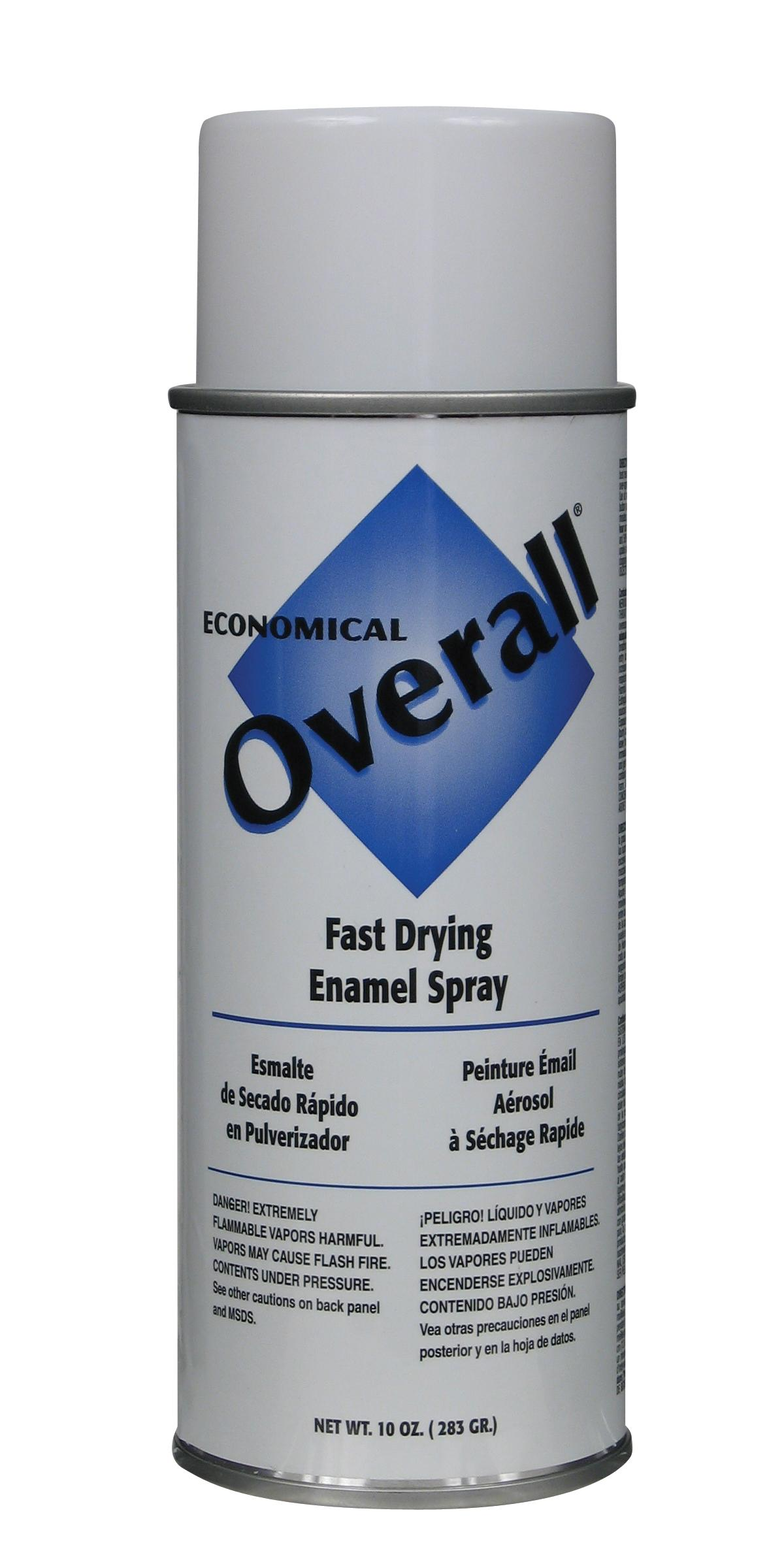 Rust-Oleum V2403830 Overall Economical Fast Drying Enamel Aerosols - Pack of 6 GLOSS WHITE