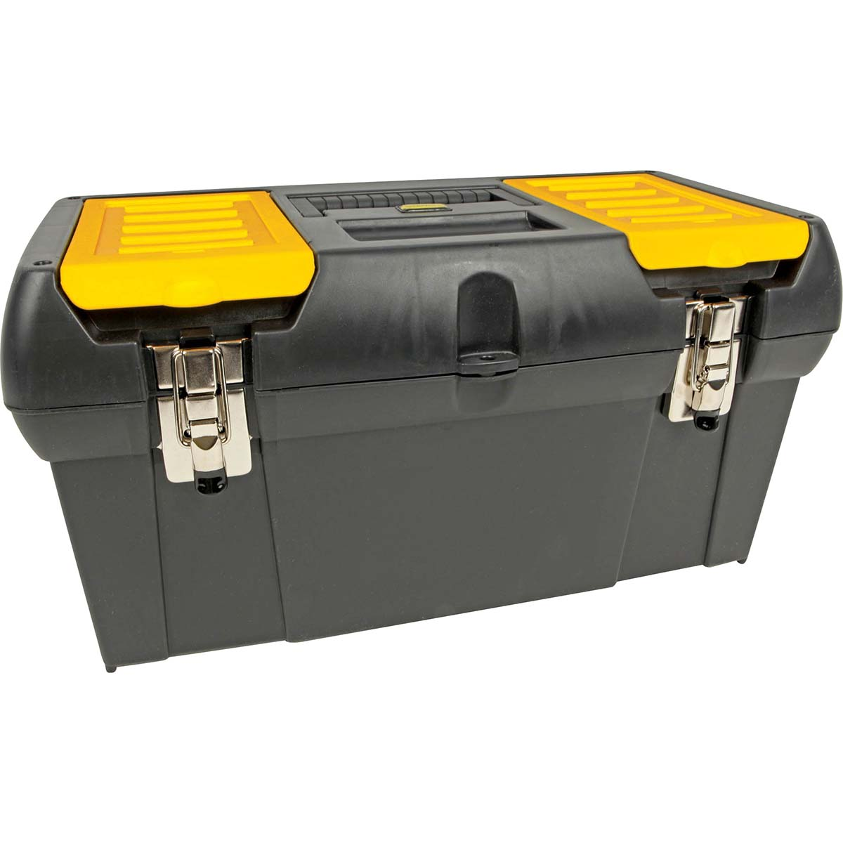 STANLEY SERIES 2000 METAL LATCH TOOL BOX W/ TOTE TRAY - 19""