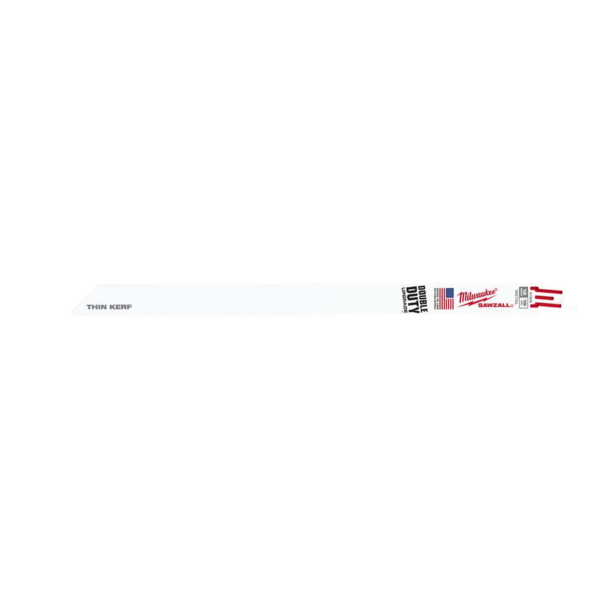 """12"""" 18 TPI Thin Kerf SAWZALL® Blades (5 Pk)"""