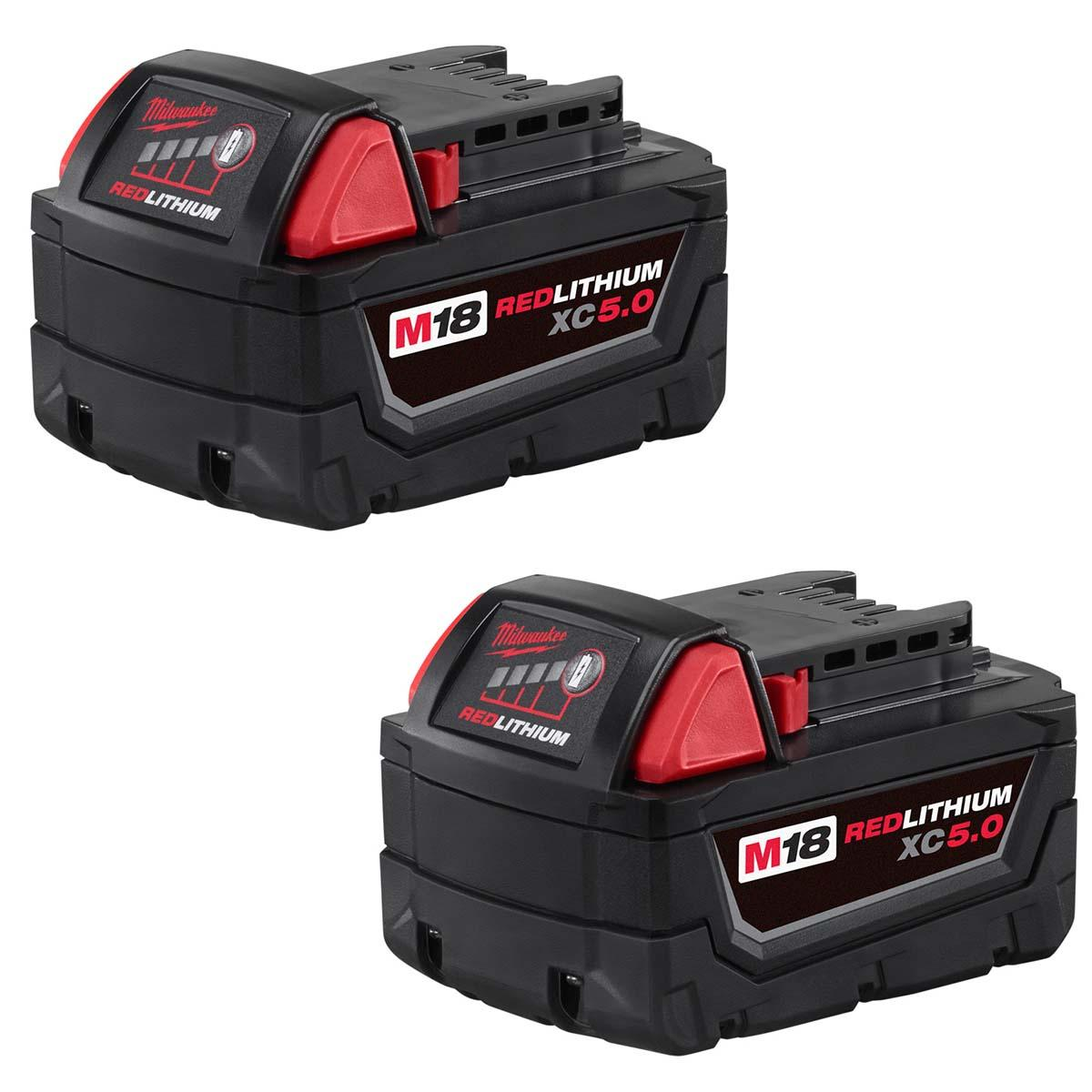 "M18â""¢ REDLITHIUMâ""¢ XC5.0 Extended Capacity Battery Two Pack"