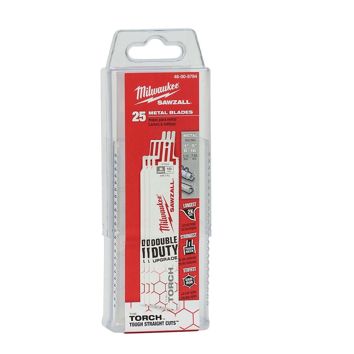 "6"" 18 TPI The Torch™ SAWZALL® Blades (25 Pk)"