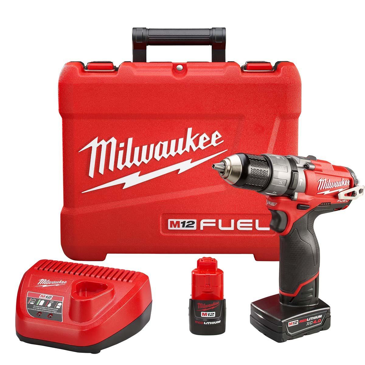 """M12 FUELâ""""¢  1/2"""" Hammer Drill/Driver Kit"""