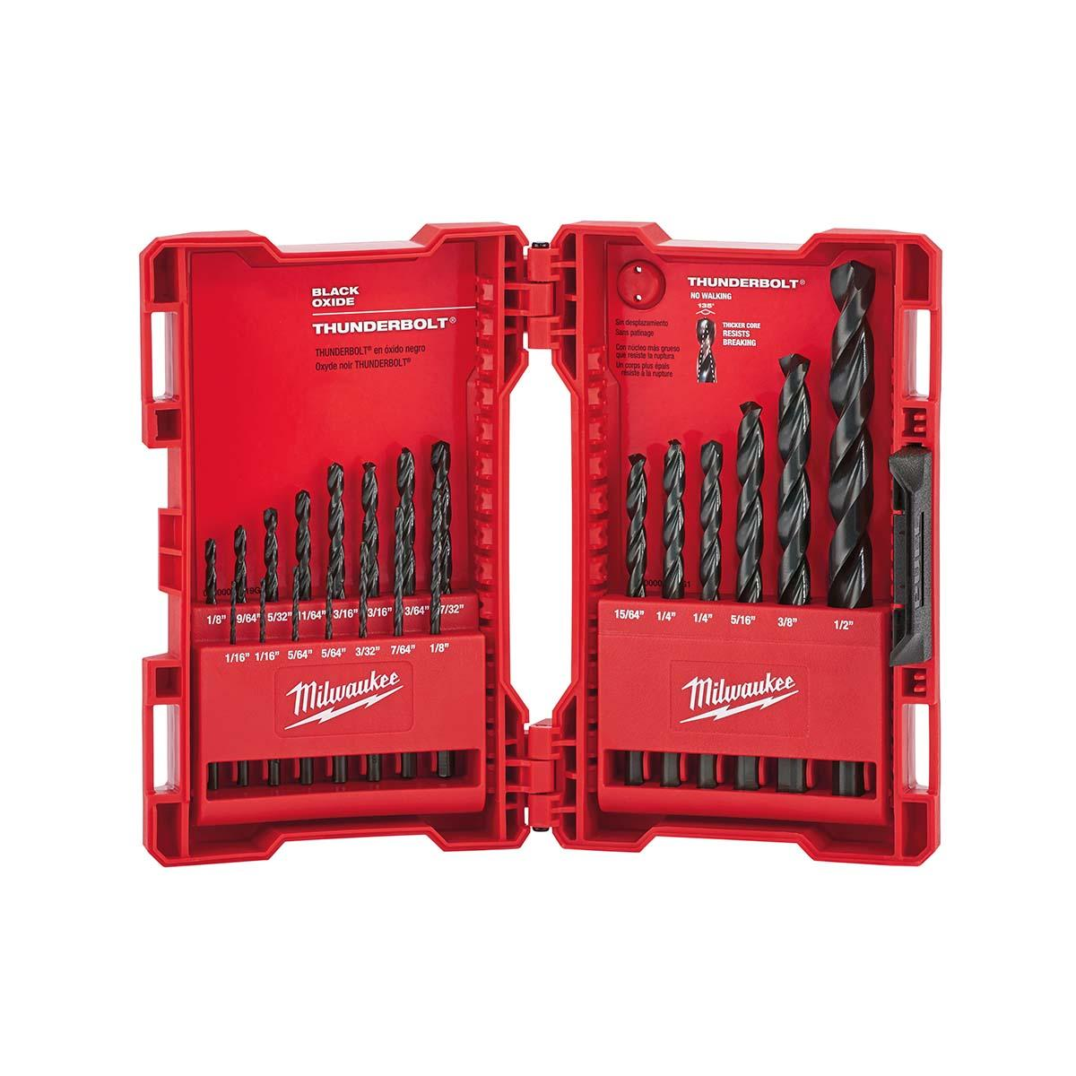 Thunderbolt® Black Oxide Drill Bit Set (21 PC)