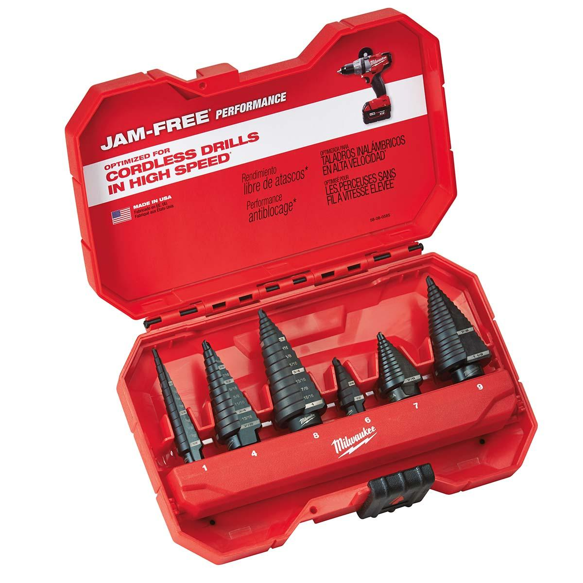 6 PC Step Drill Bit Set