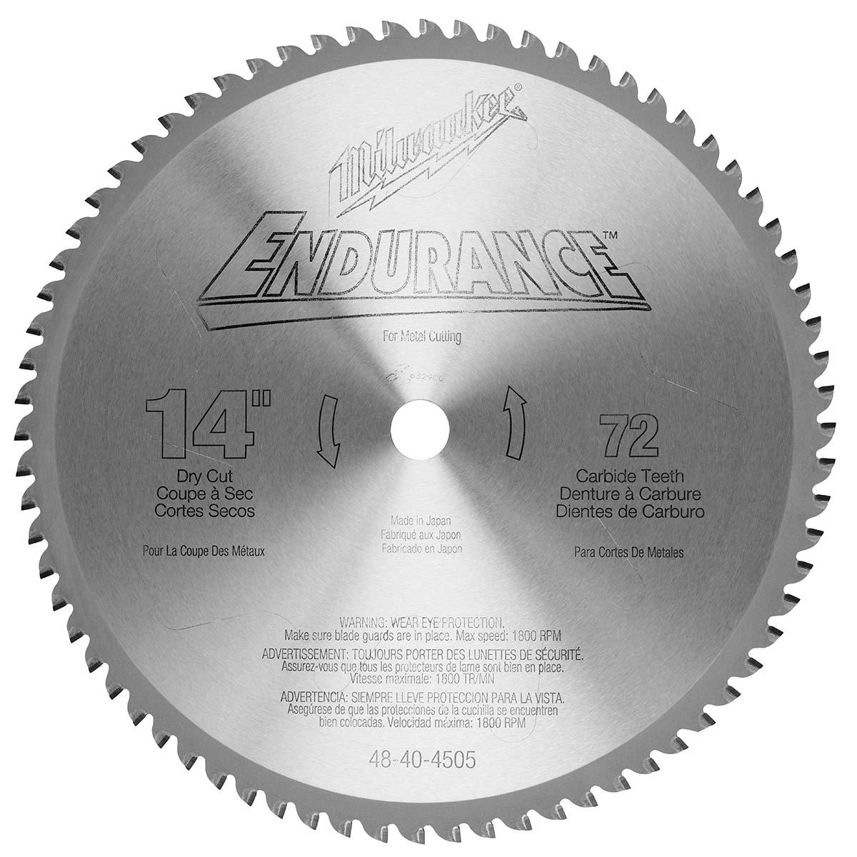 "14"" 72 Teeth Dry Cut Carbide Tipped Circular Saw Blade"