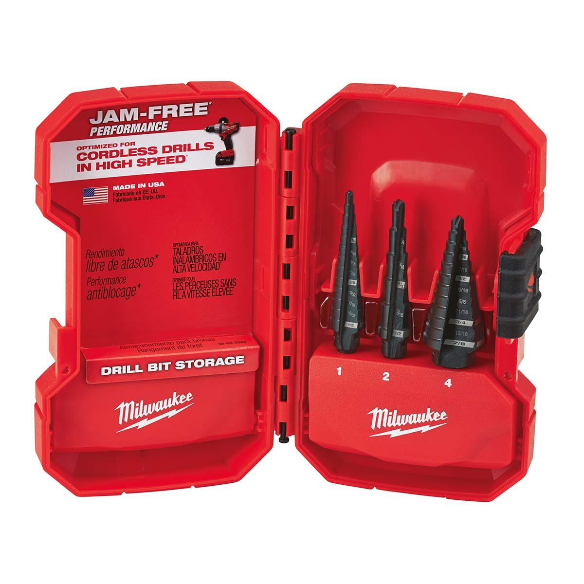3 PC Step Drill Bit Set