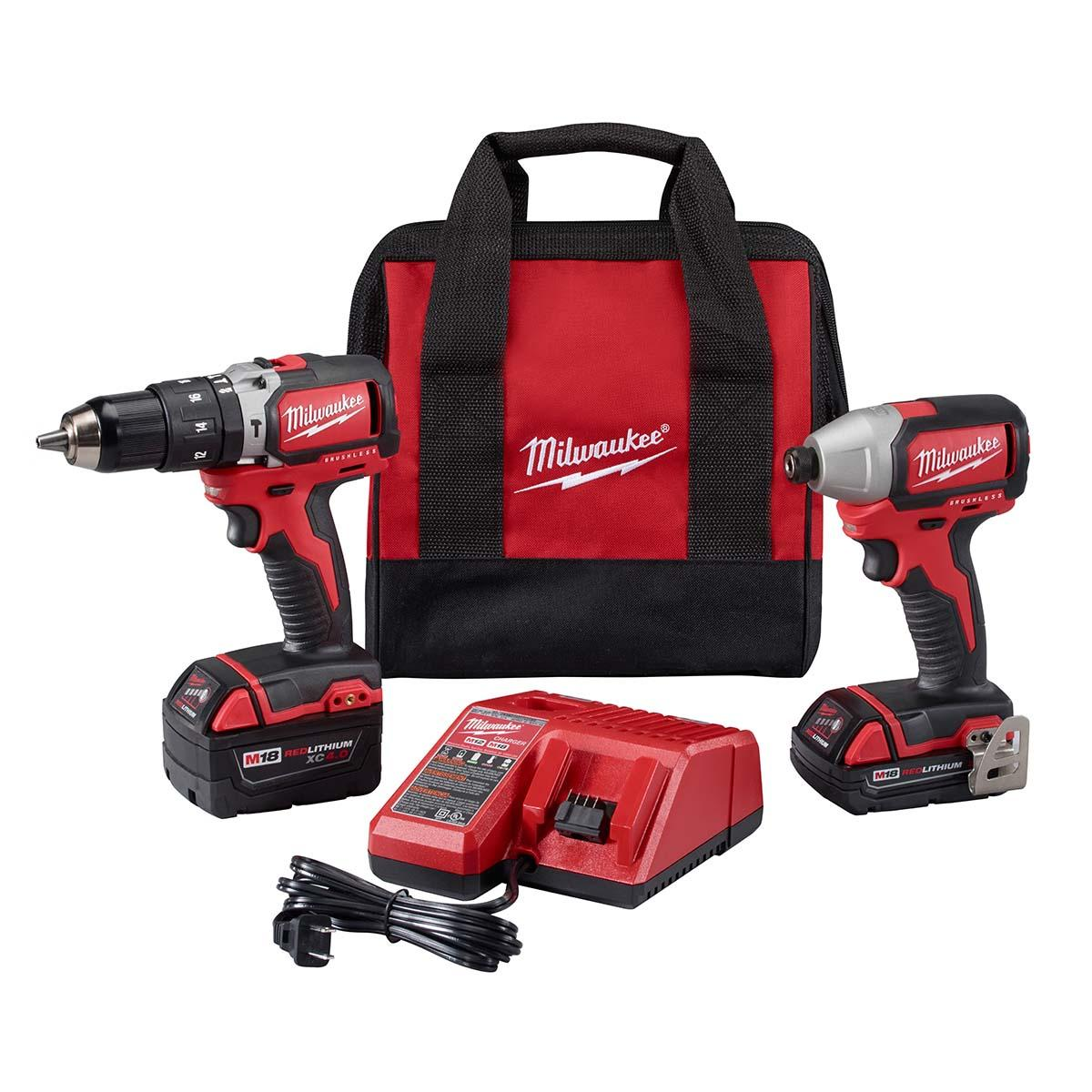 "M18â""¢ Compact Brushless Hammer Drill/Brushless Impact Combo Kit (2 Tool)"