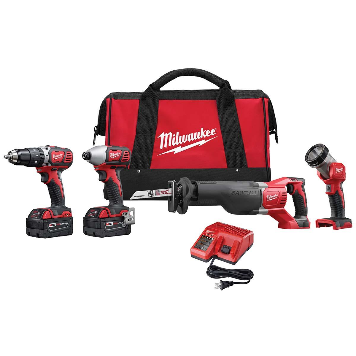"M18â""¢ Cordless LITHIUM-ION 4-Tool Combo Kit"