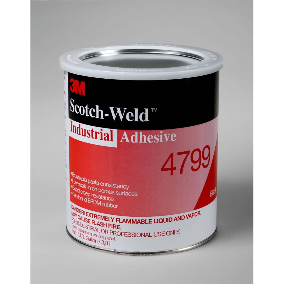 3M Industrial Adhesive 4799 Black, 5 Ounce