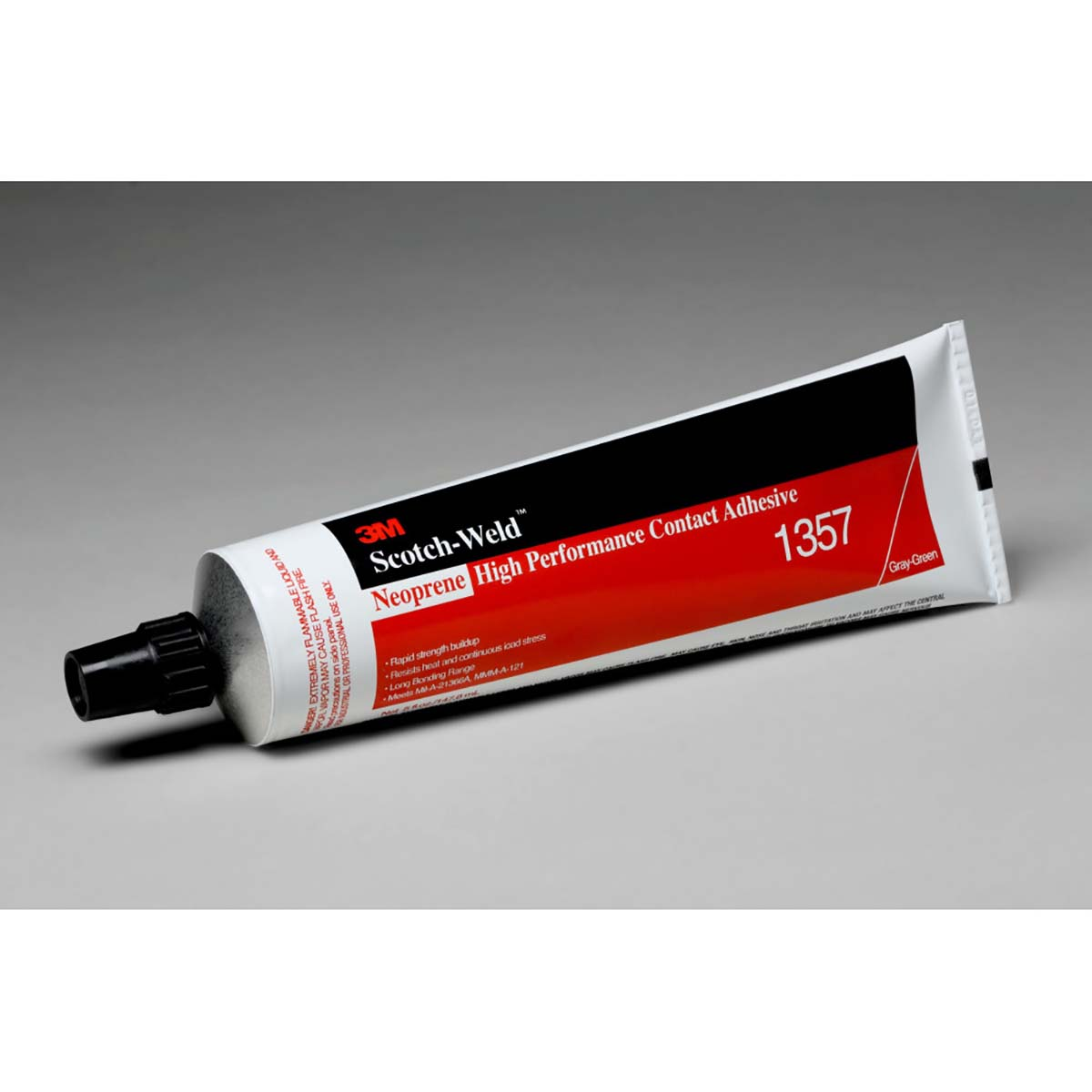 3M Neoprene High Performance Contact Adhesive 1357 Gray-Green  5 Ounce Tube  36 per case