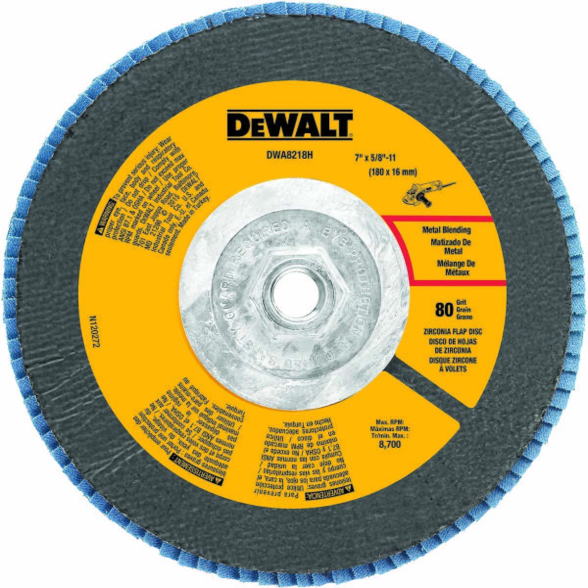 """7"""" x 5/8""""-11 80 Grit Zirconium T27 Flap Disc"""