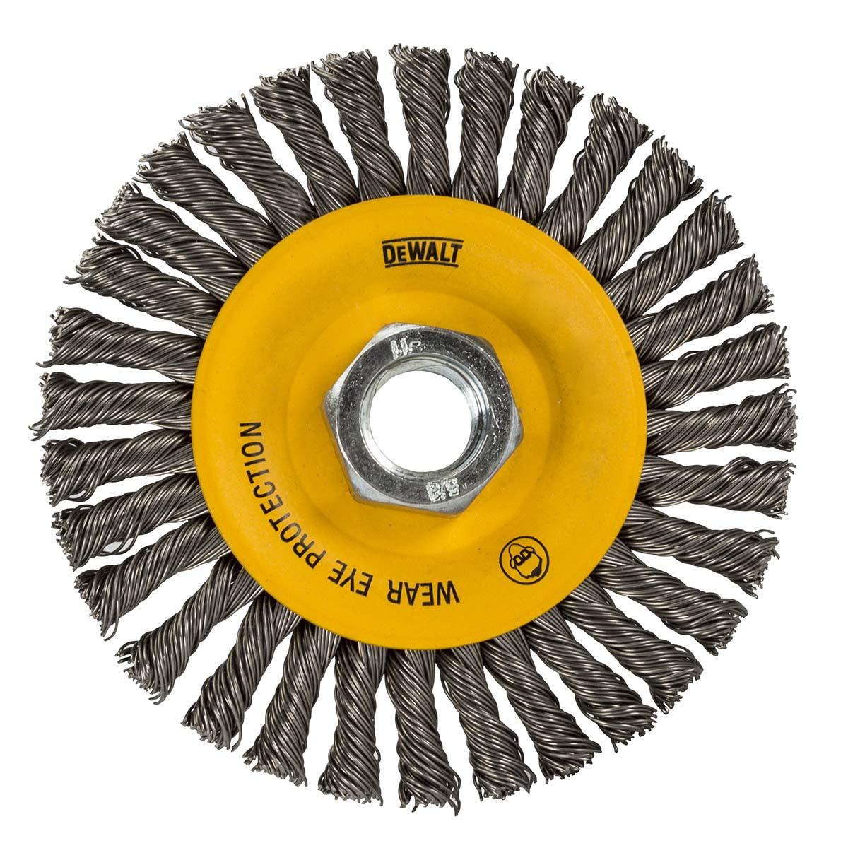 "WIRE WHEEL, SS, 4""X5/8""-11, PK6"