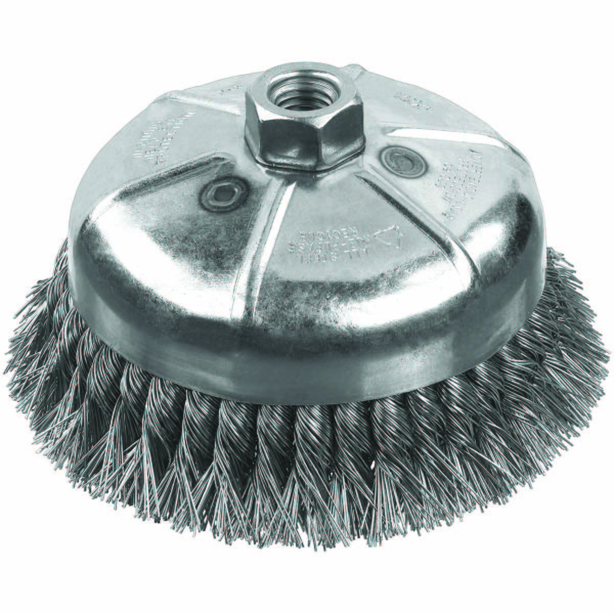 KNOT WIRE CUP WIRE BRUSH, ARBOR, 0.020 ""