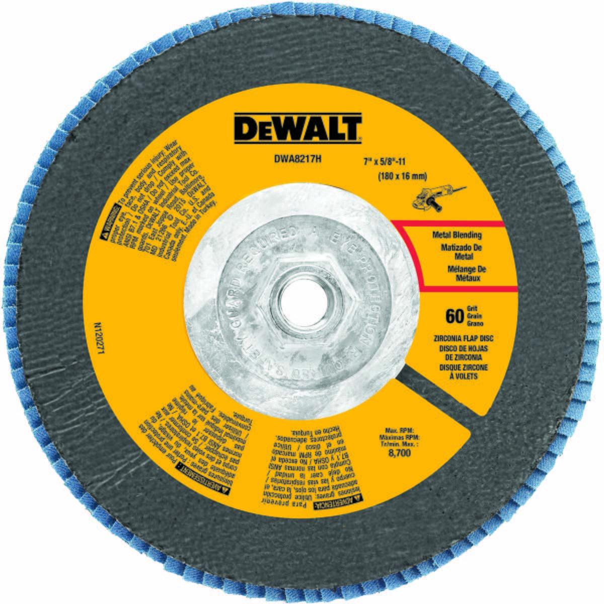 """7"""" x 5/8""""-11 60 Grit Zirconium T29 Flap Disc"""