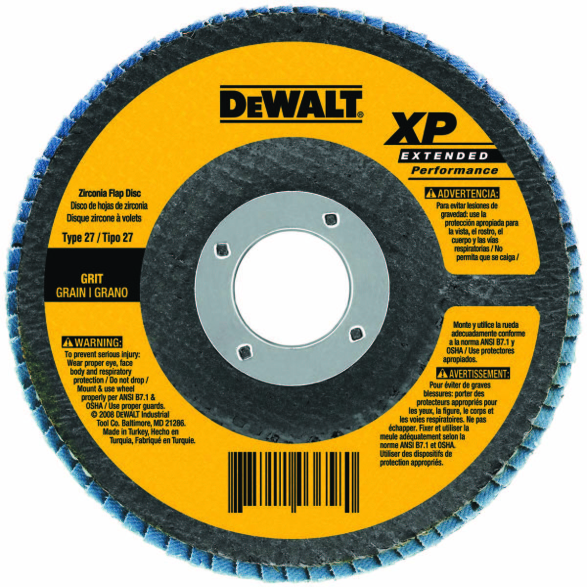 ARBOR MOUNT FLAP DISC, 4-1/2IN, 60, MED - Abrasive