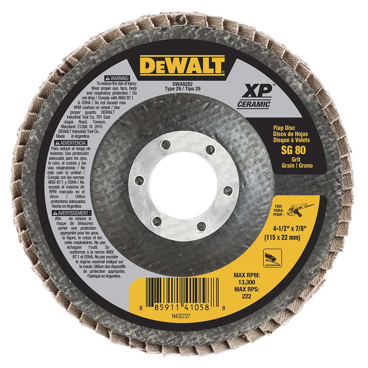 FLAP DISC, 13, 300 RPM, 4-1/2 IN. DIA.