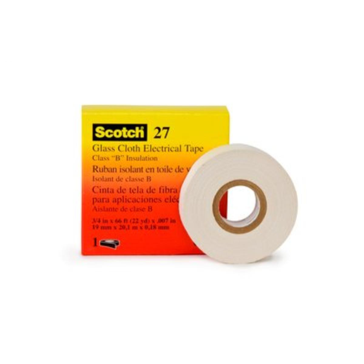 3M(TM) Glass Cloth Electrical Tape 27, 3/4 in x 66 ft