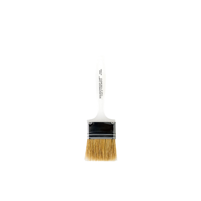 "2"" Solvent Proof Chip White China Bristle brush"