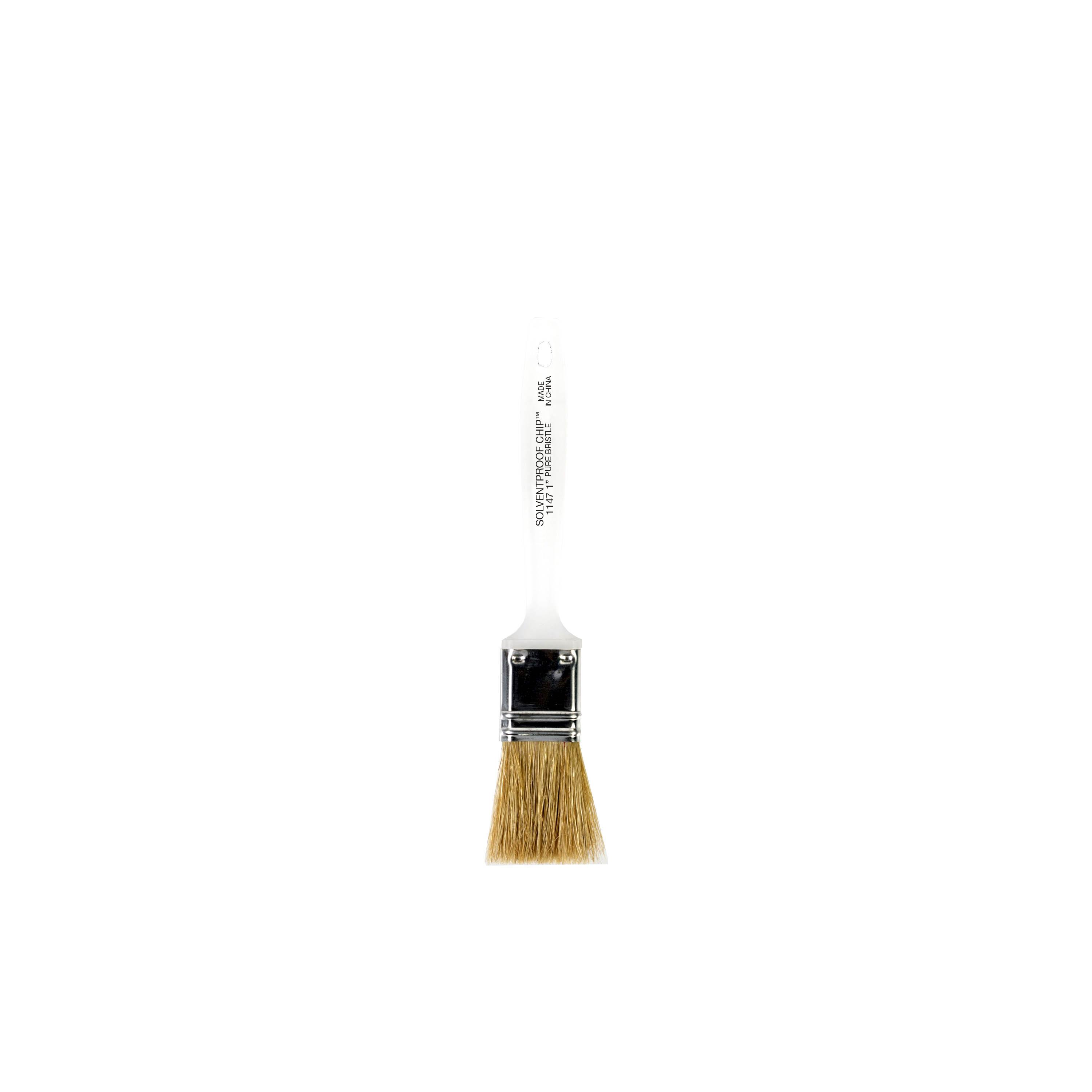 "1"" Solvent Proof Chip White China Bristle brush"