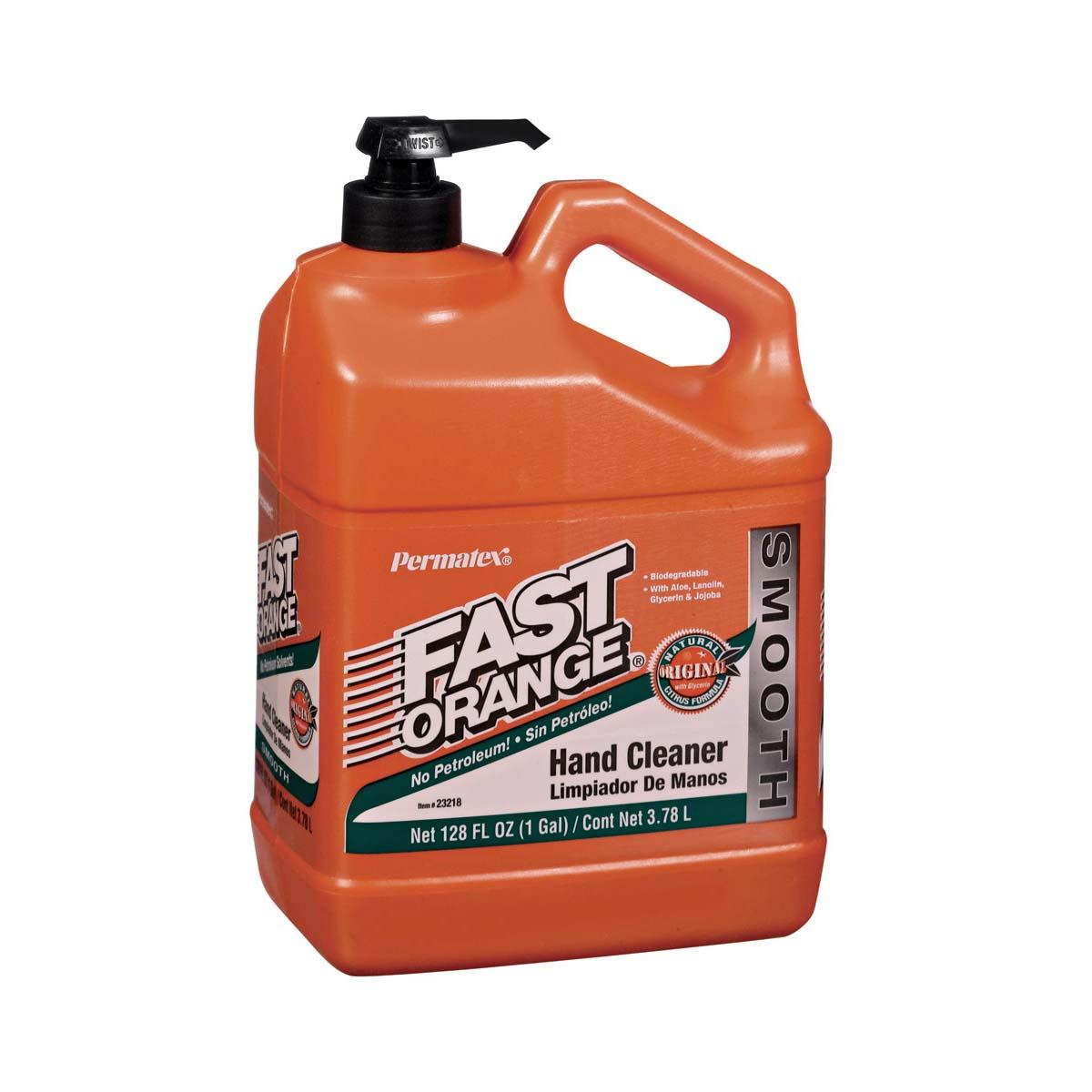 PERMATEX® FAST ORANGE®  Hand Cleaner (Smooth Lotion) - 1 gal. plastic bottle with pump  1 Each
