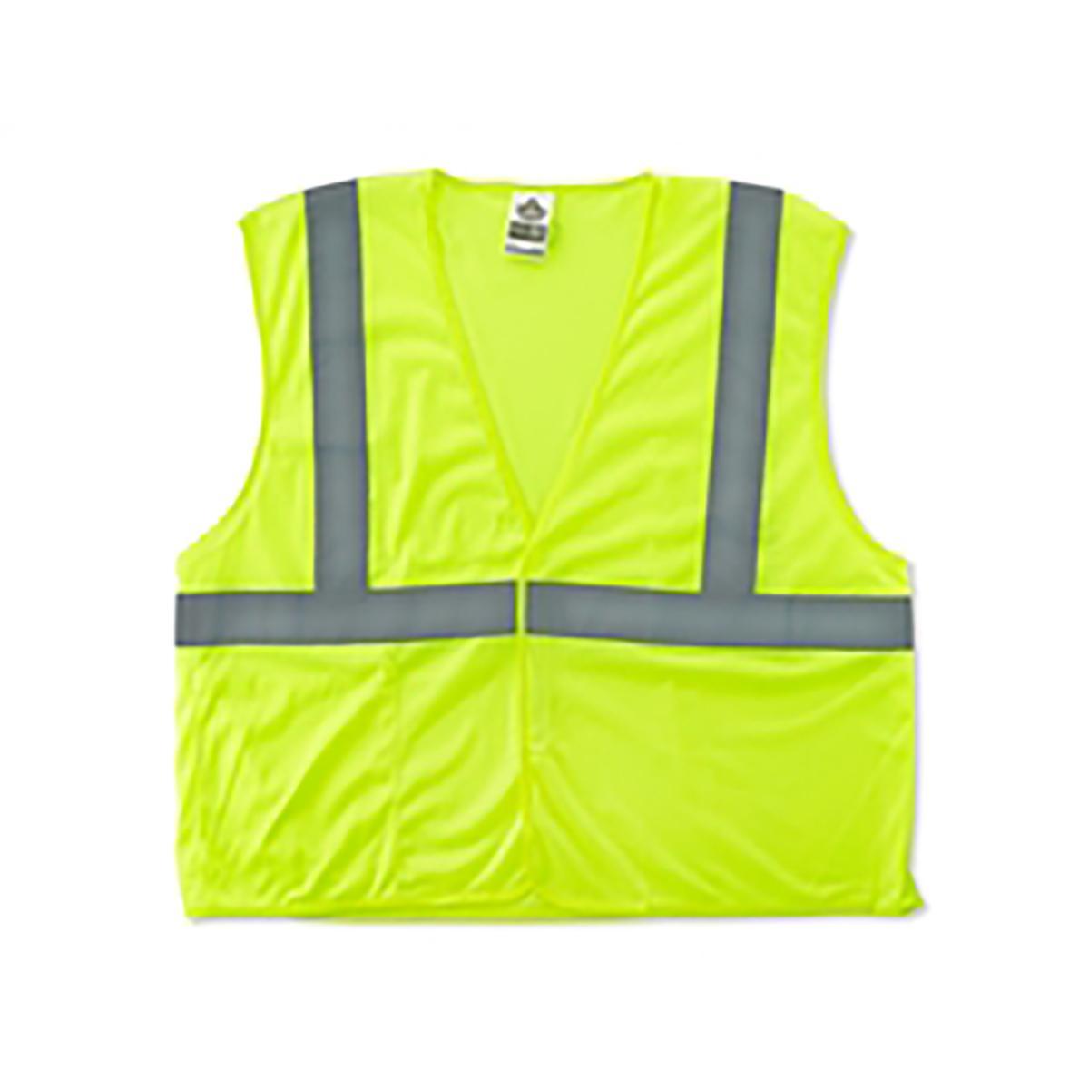 8210HL L/XL Lime Type R Class 2 Economy Mesh Vest