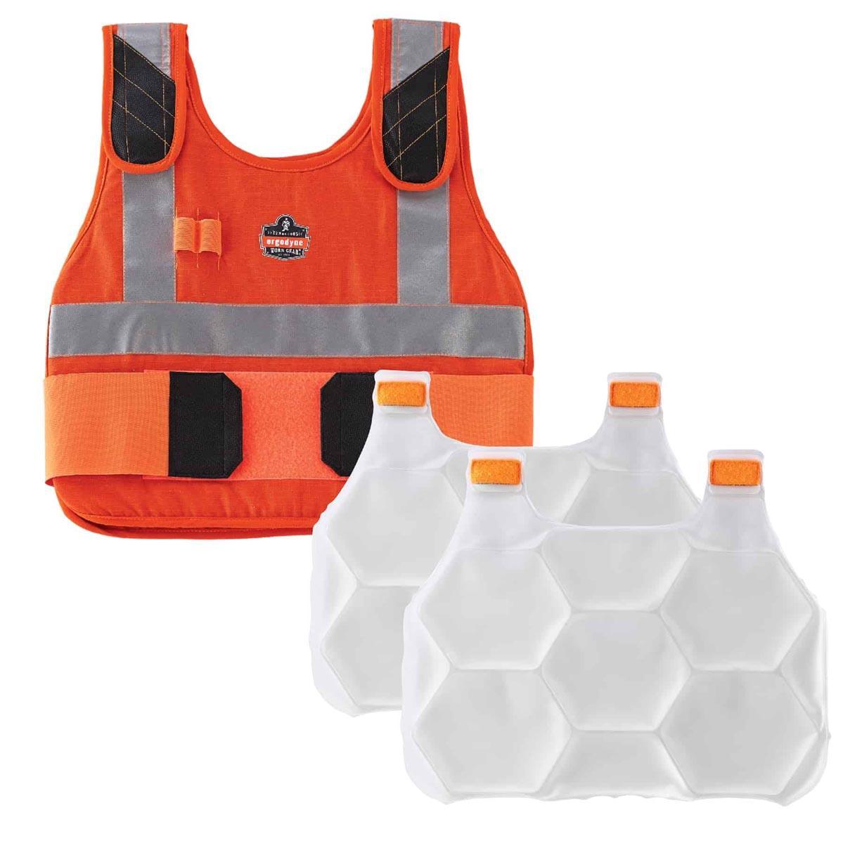6215 L/XL Orange Phase Change Cooling Vest & Pack