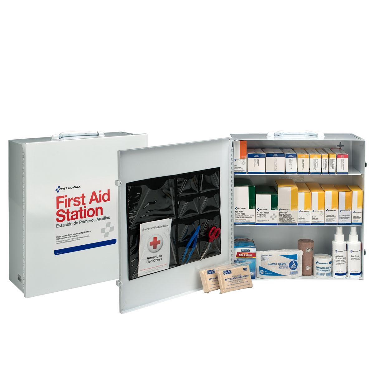 100 Person 3 Shelf First Aid Steel Cabinet