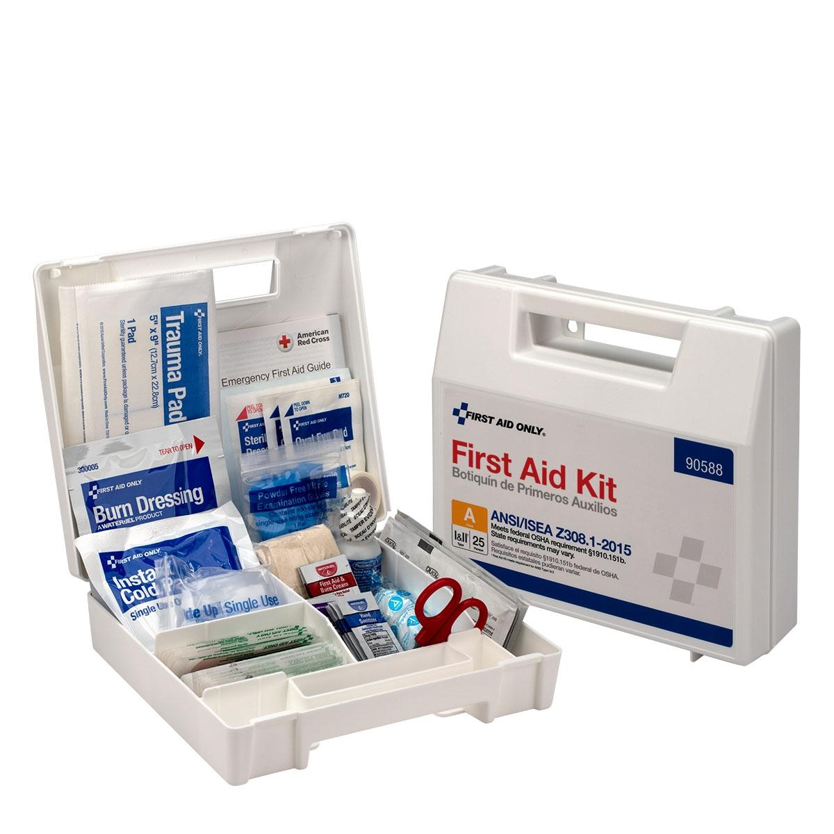 25 Person Bulk Plastic First Aid Kit  ANSI Compliant