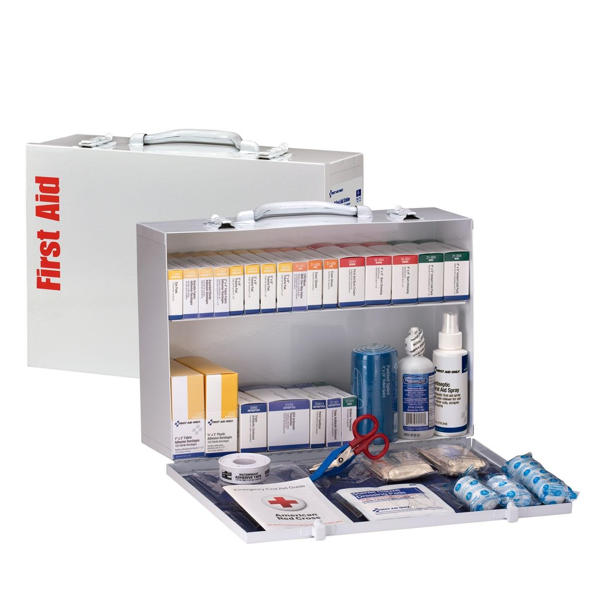 2 Shelf First Aid Cabinet, ANSI Compliant