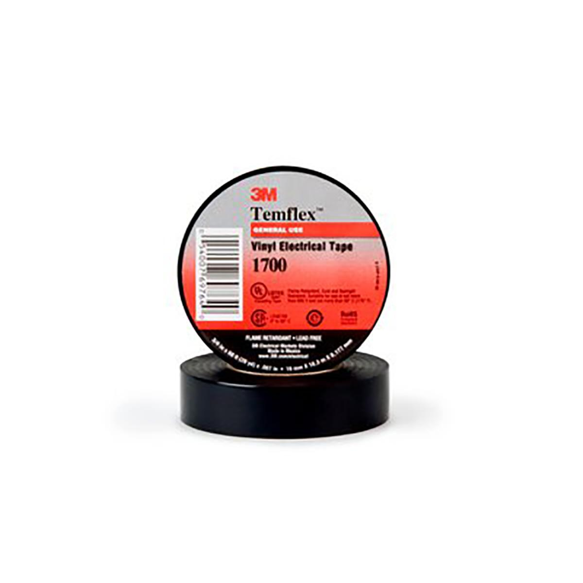 3M(TM) Temflex(TM) General Use Vinyl Electrical Tape 1700-3/4x60FT, 3/4 in x 60FT