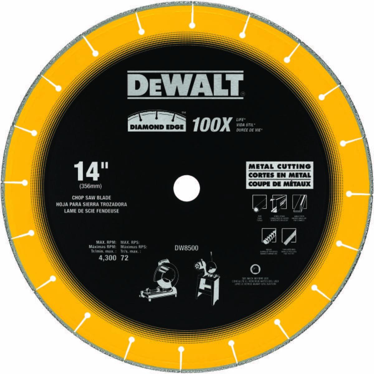 DIAMOND SAW BLADE, METAL, 14 IN. DIA.