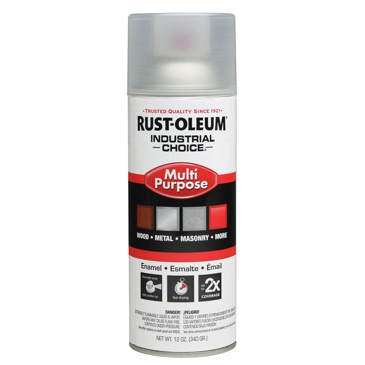 Rust-Oleum Spray Paint: Crystal Clear, Gloss, 1 hr Dry Time, 12 to 15 sq ft, 12 fl oz Container Size