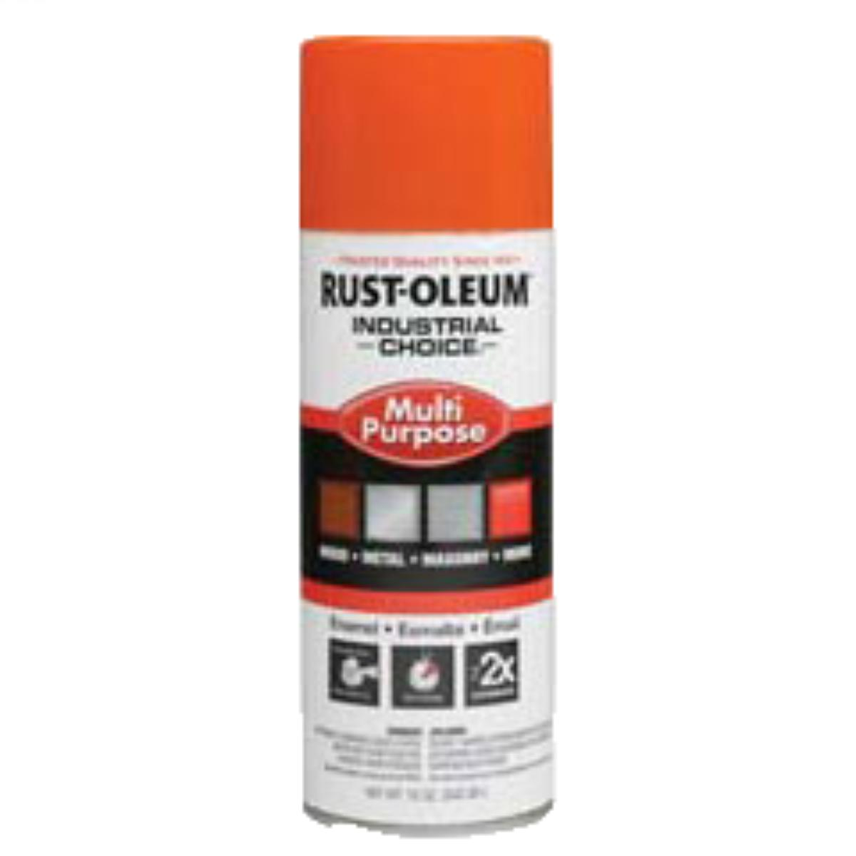 Rust-Oleum Spray Paint: OSHA Safety Orange, Gloss, 1 hr Dry Time, 12 to 15 sq ft, 12 fl oz