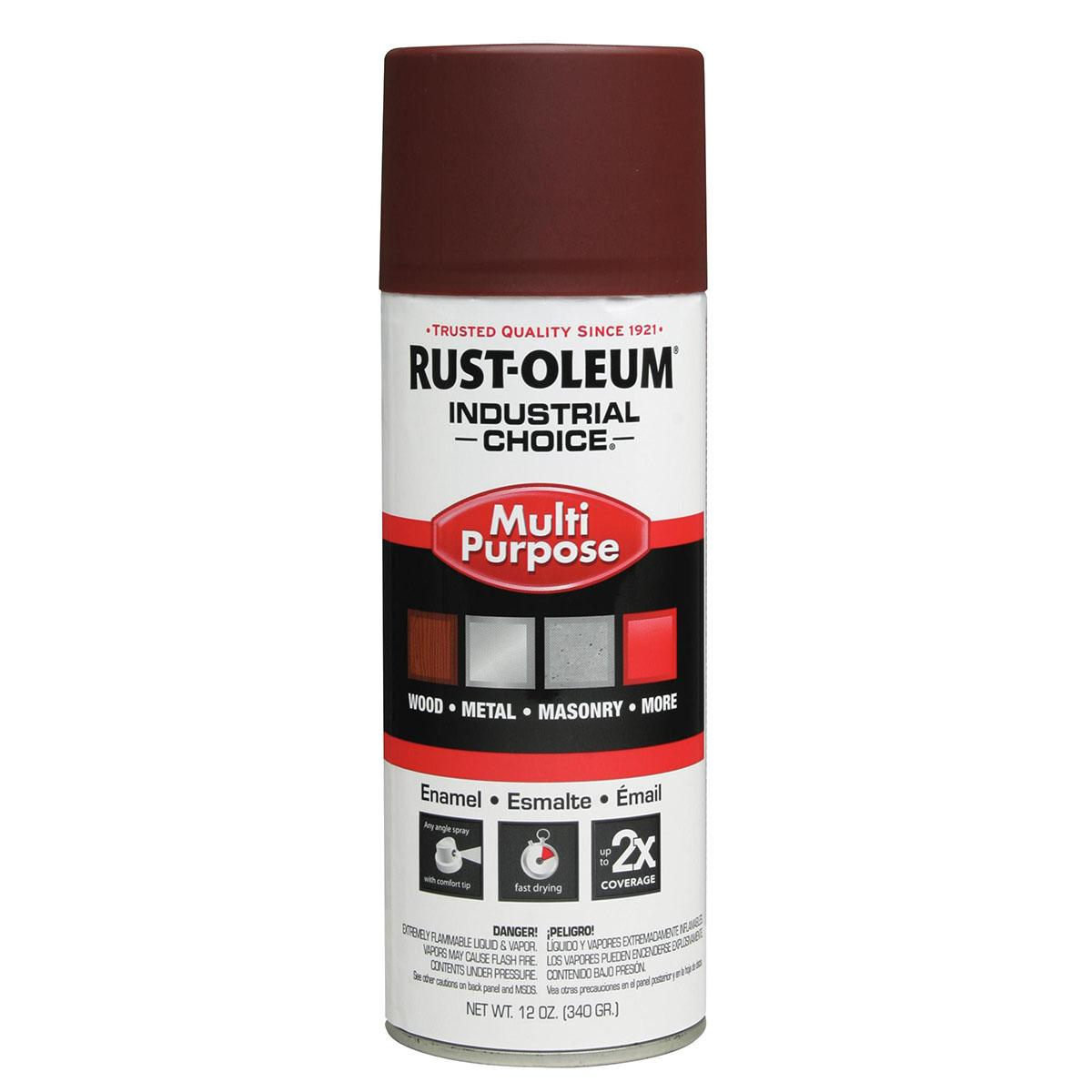 Rust-Oleum Spray Primer: Red, Flat, 1 hr Dry Time, 12 to 15 sq ft, 12 fl oz Container Size