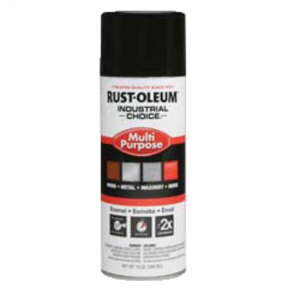 Rust-Oleum® Industrial Choice® 1679830 12 oz Aerosol Can Solvent Based Multi-Purpose Alkyd Enamel Spray Paint, Gloss Black