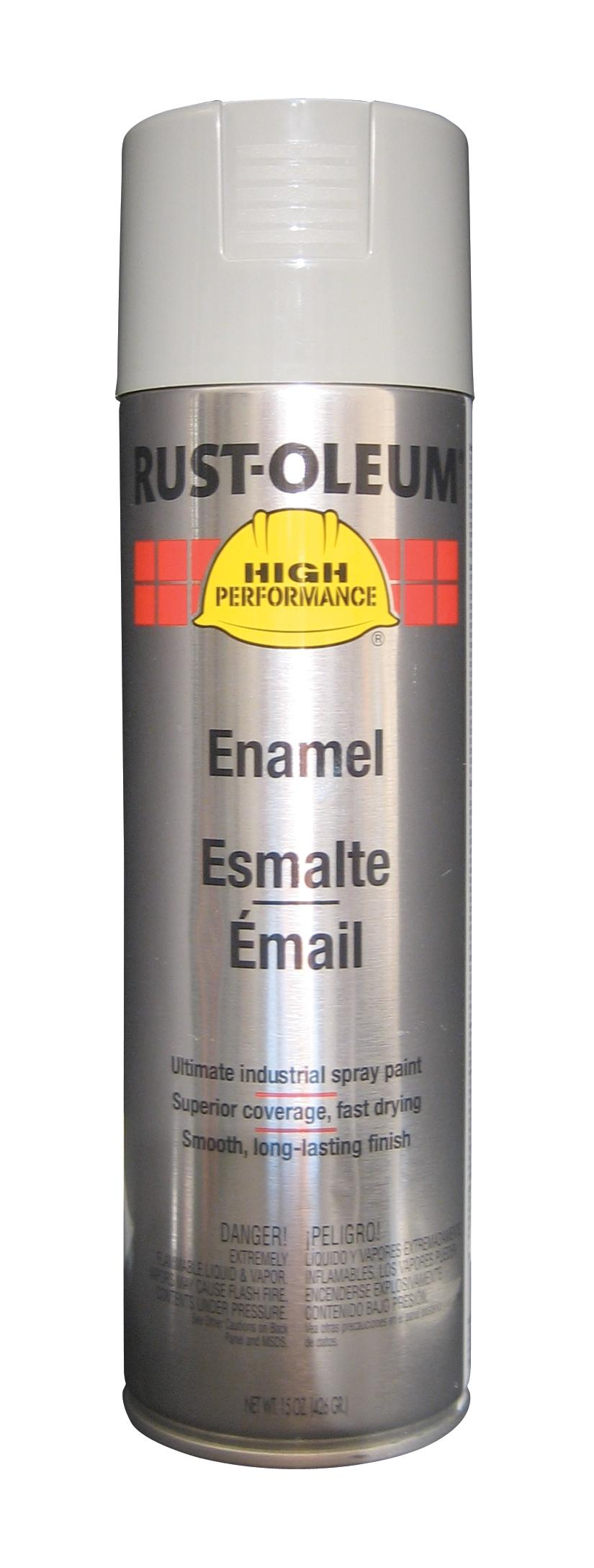 Rust-Oleum Spray Paint: Light Machinery Gray, Gloss, 2 hr Dry Time, 12 to 20 sq ft, 15 fl oz Container Size