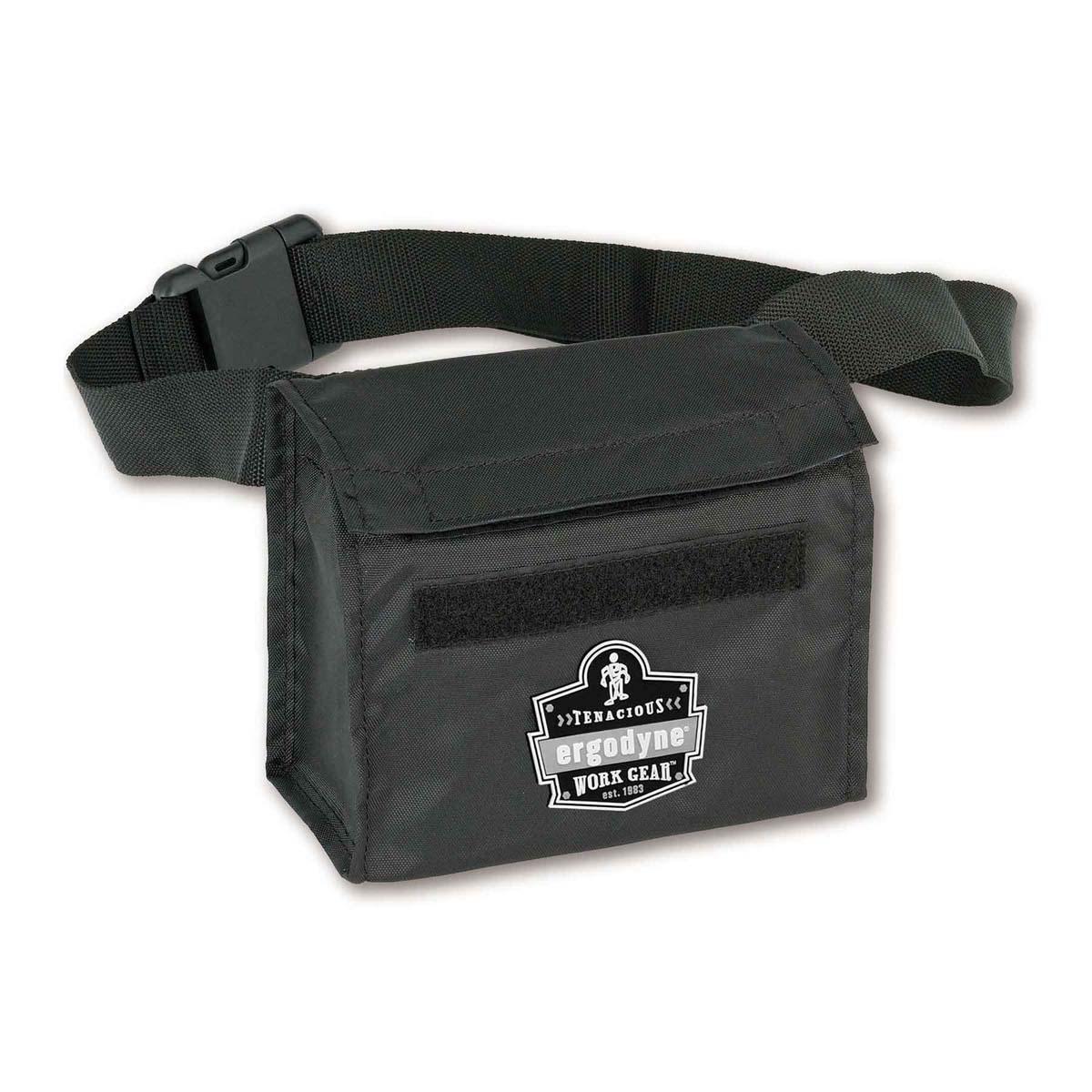 GB5180  Black Respirator Waist Pack-Half Mask
