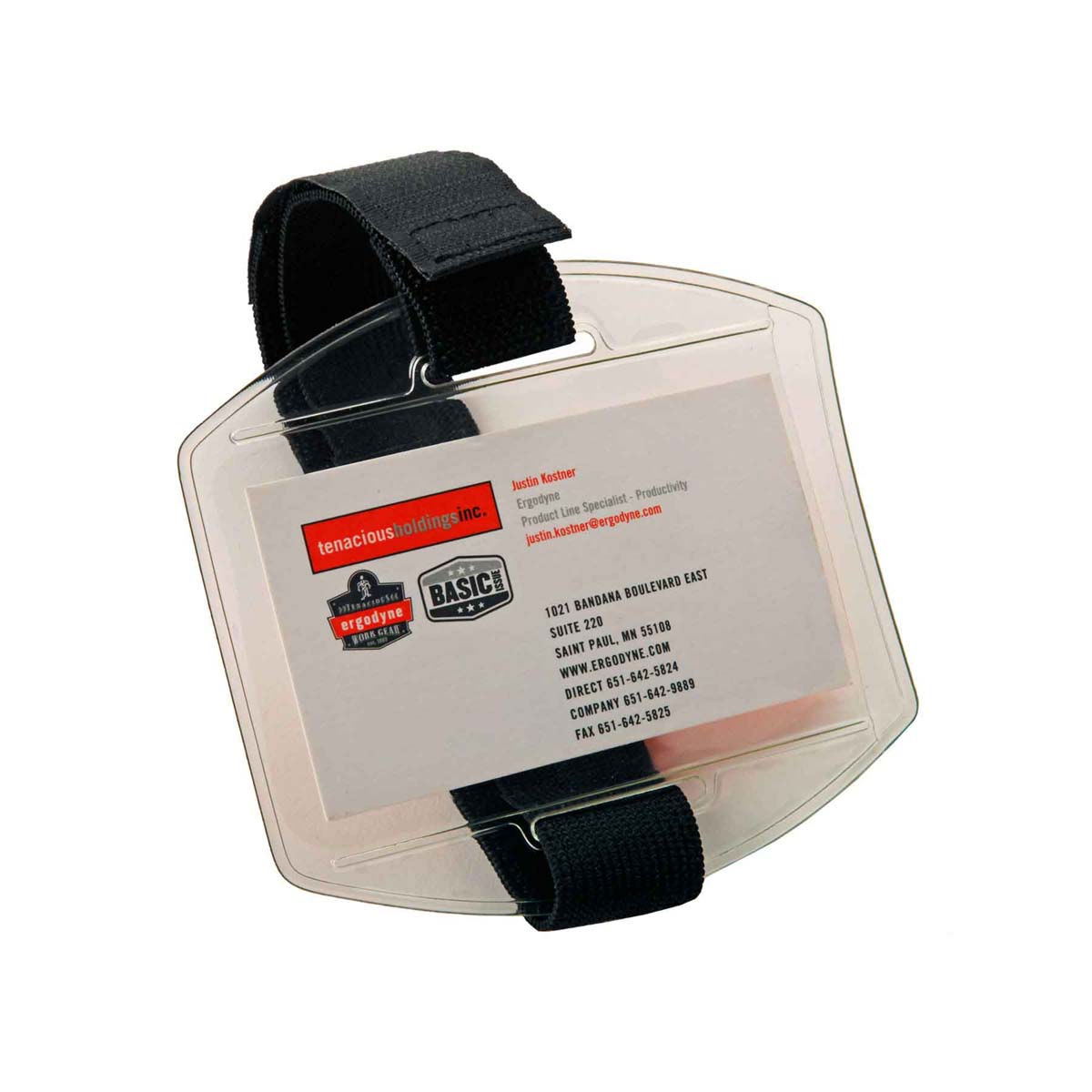 3386  Black Arm Band ID/Badge Holder HV