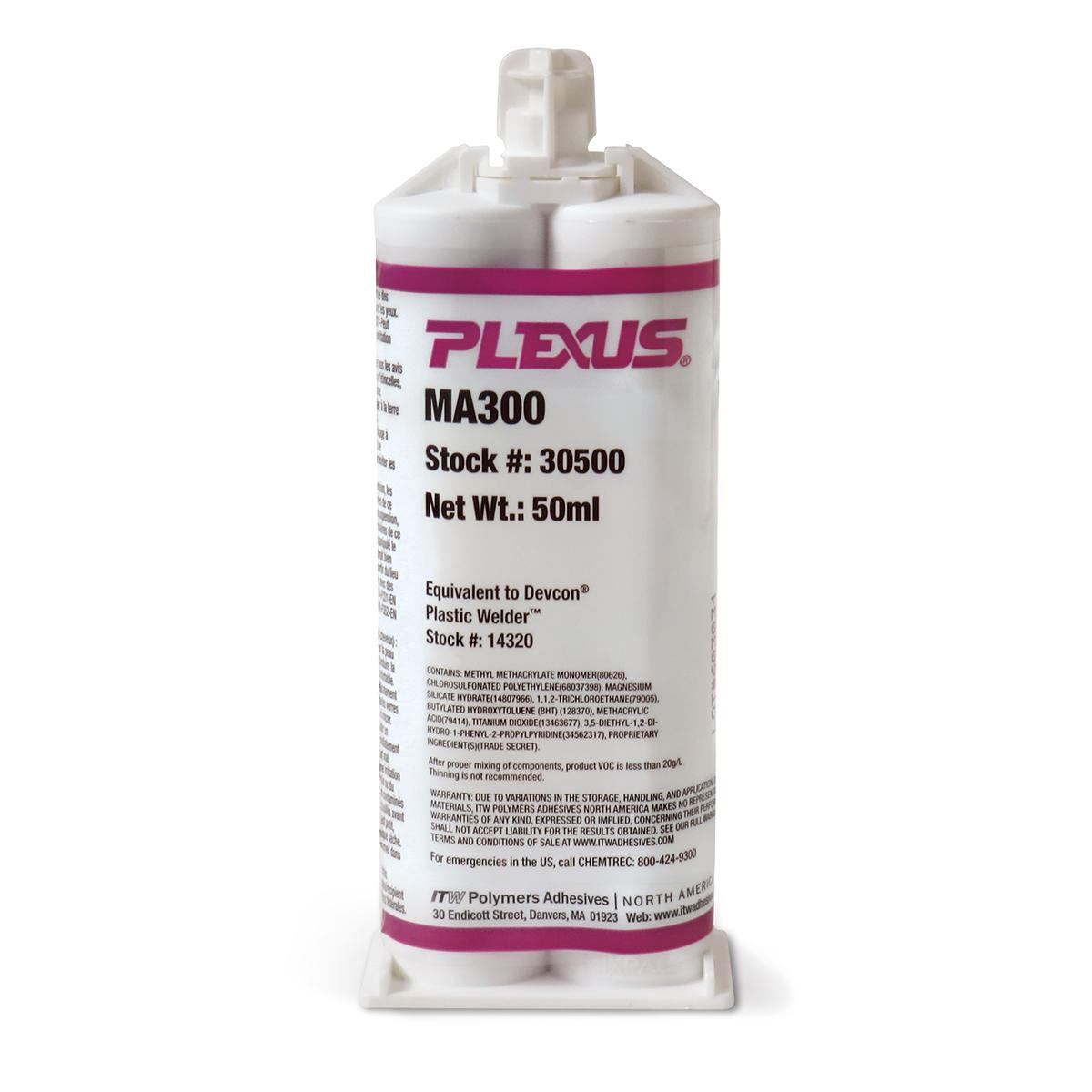 PLEXUS® MA300 - 50ml 1:1 Ratio Twin Cartridge- Cream  1 Each