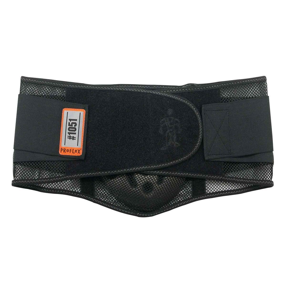 1051 L Black Mesh Back Support w/Lumbar Pad