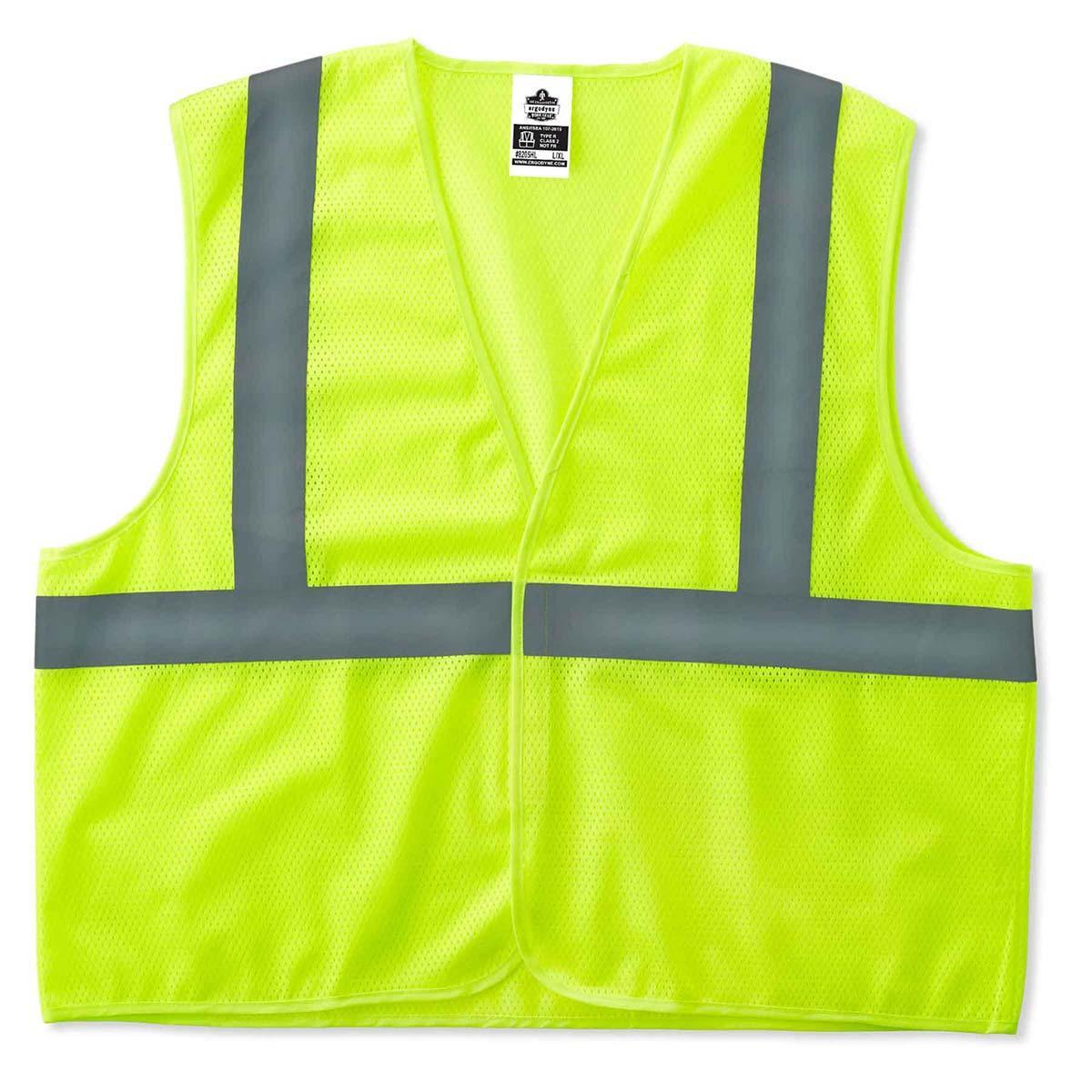 8205HL S/M Lime Type R Class 2 Super Econo Mesh Vest