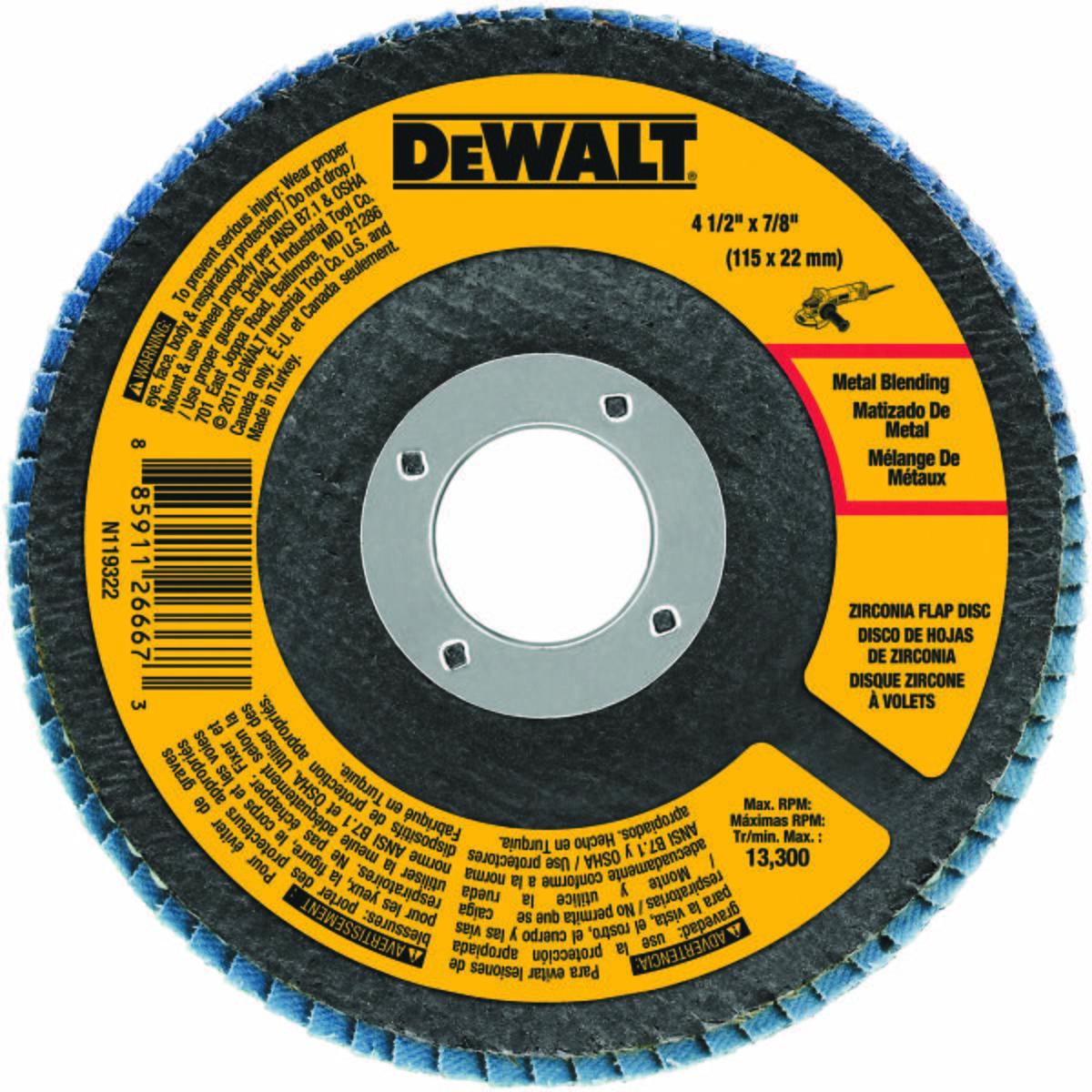 """4-1/2"""" x 7/8"""" 60 Grit Zirconium T29 Flap Disc"""