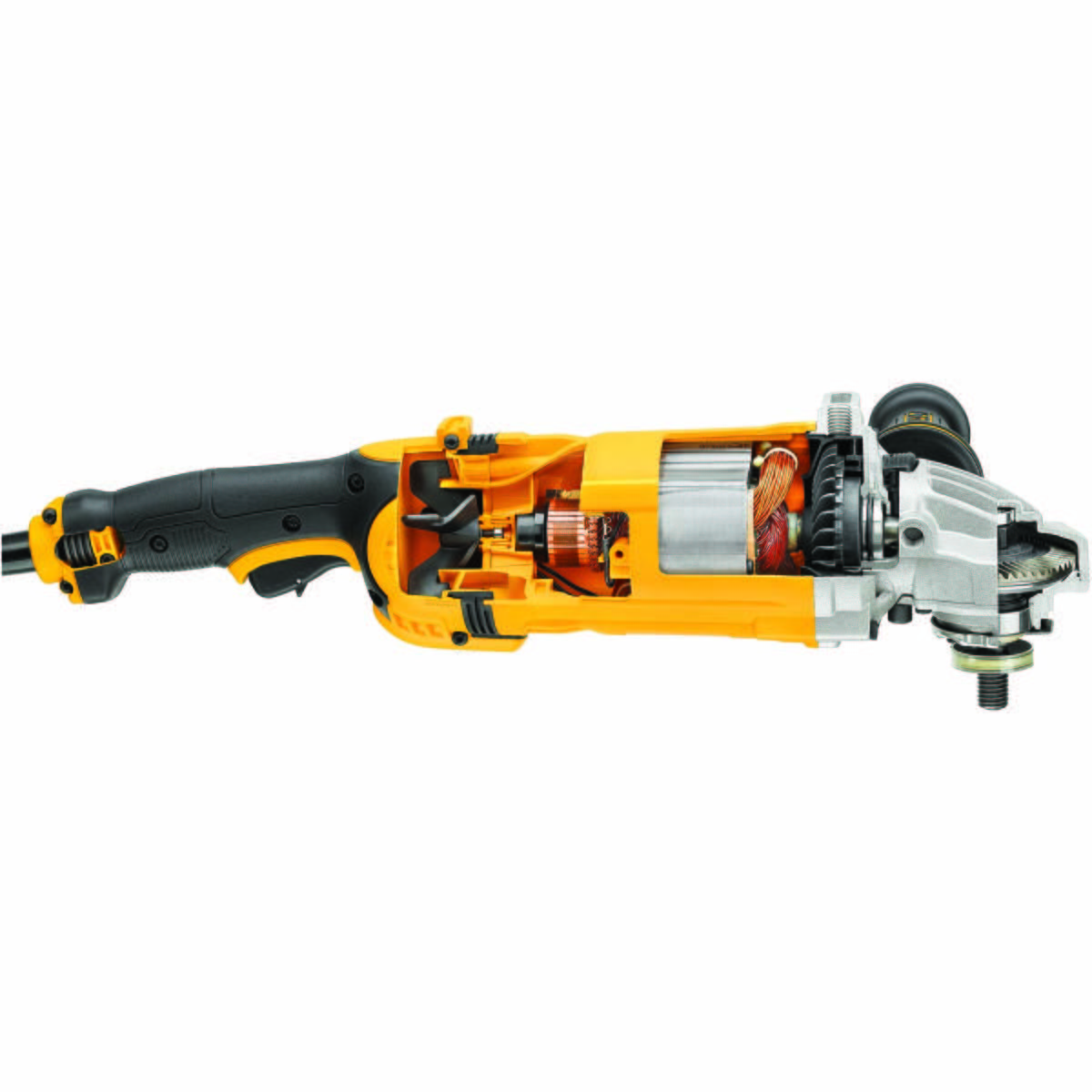 """4.2 Amp Paddle Switch Die Grinder, No Lock-On - 7"""" 8,500 rpm 4.5HP Angle Grinder"""