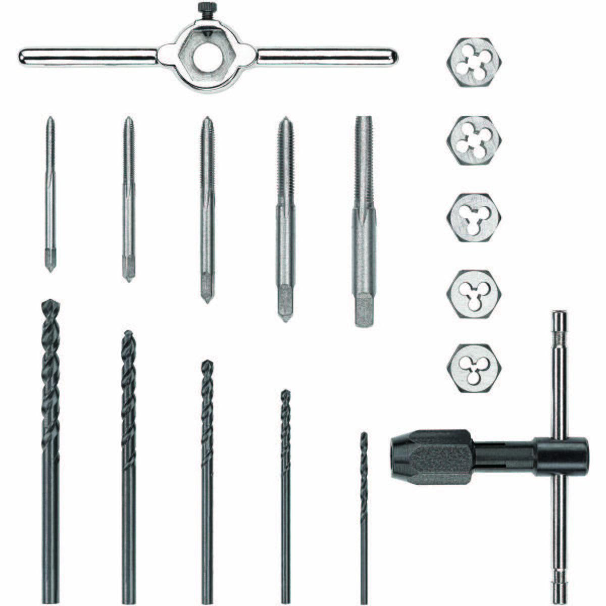 17pc Fractional Tap and Small Hex Die Set
