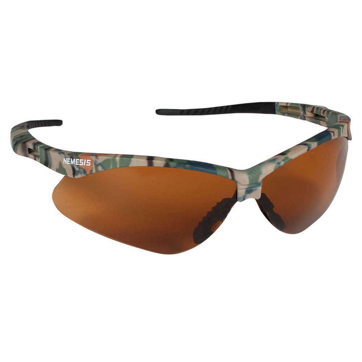 Jackson Safety V30 Nemesis Safety Glasses (19644), Bronze Lenses with Camo Frame, 12 Pairs / Case