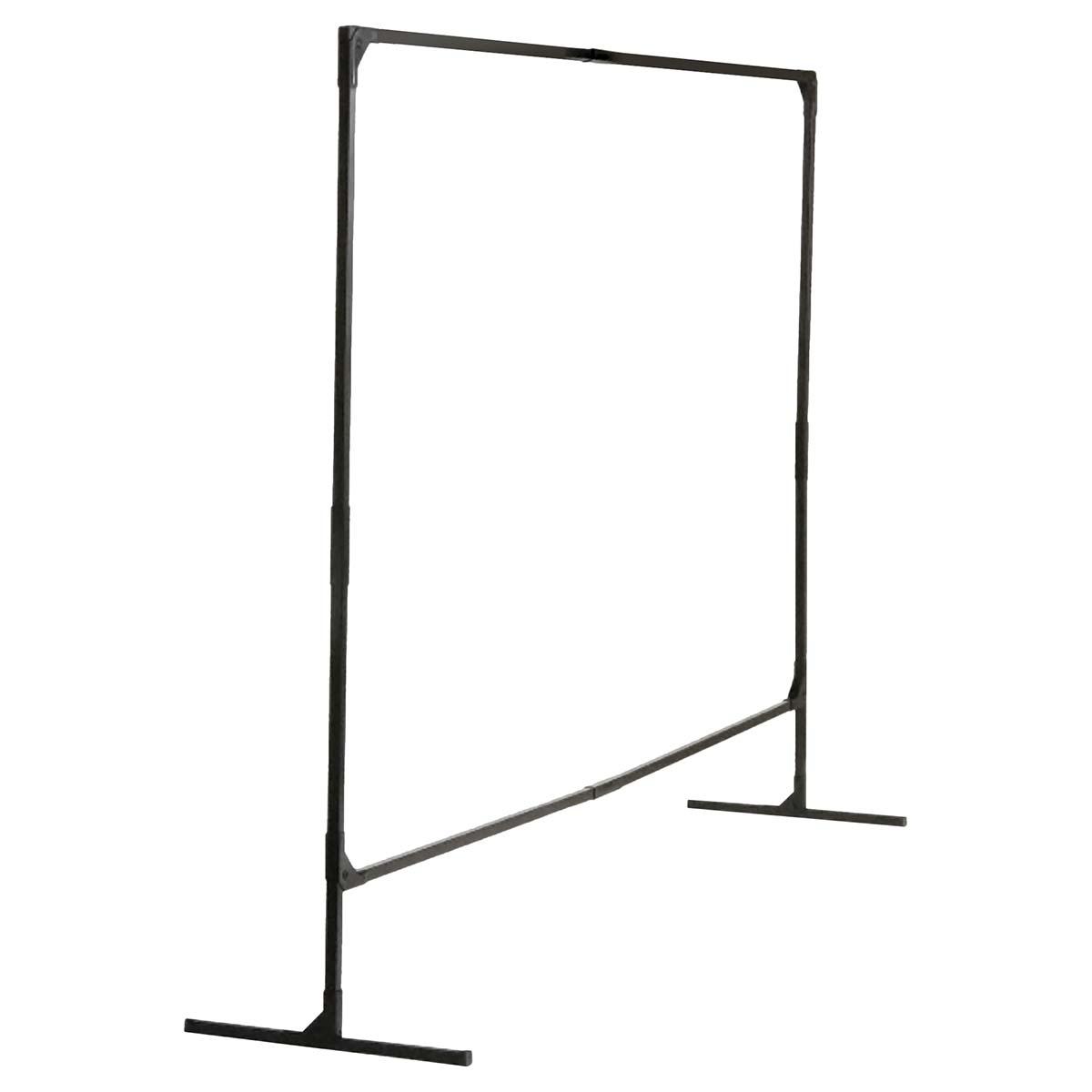 Wilson Stur-D-Screen Frame (36338), 6 x 8 feet, Single Panel, T Legs, Black, For Welding Curtains, 1 / Order